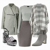 Dress like a Lady in grey at New Look Offer