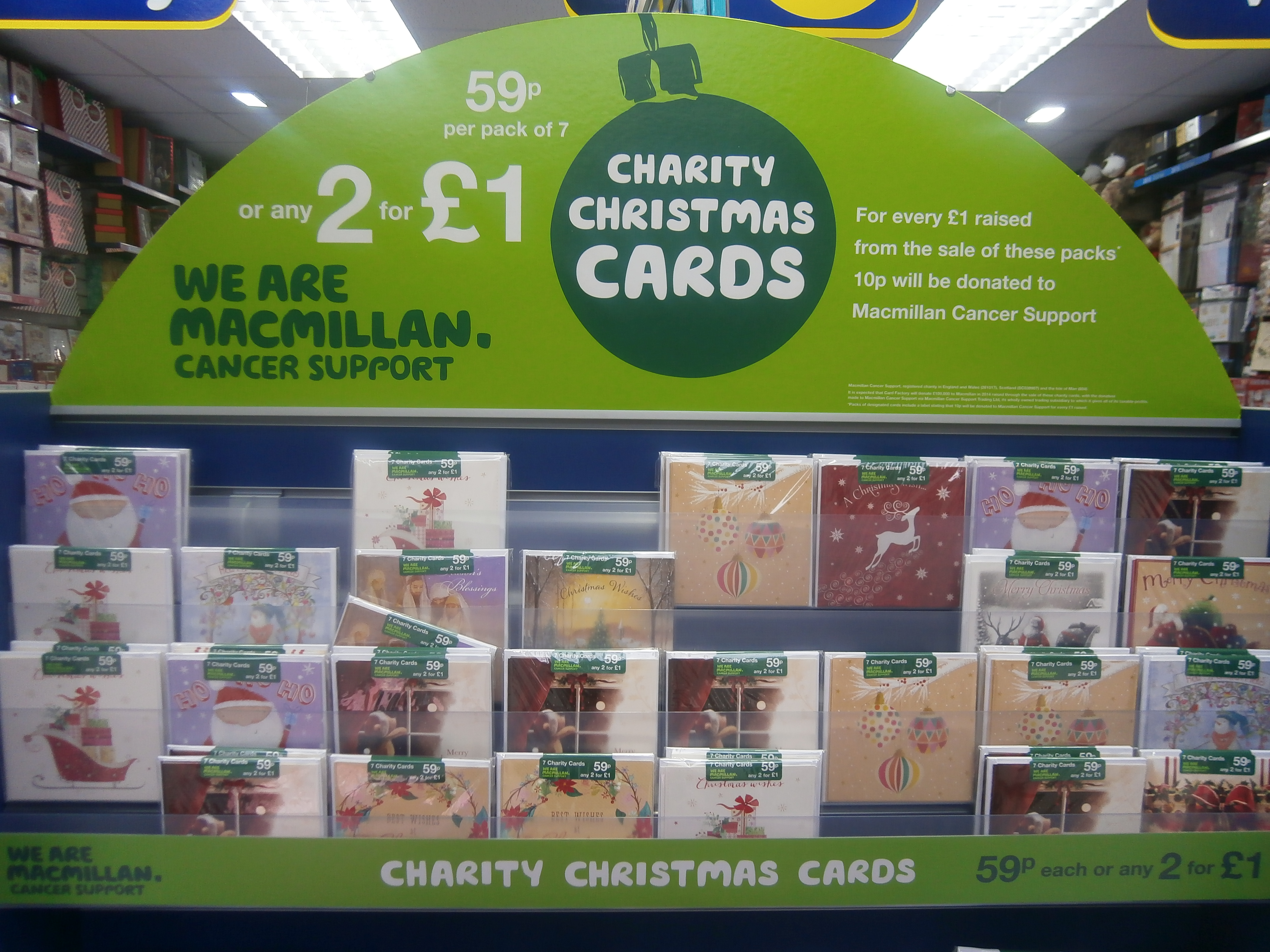 charity christmas cards at card factory
