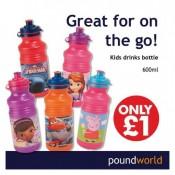 Poundworld kids drinks bottles Offer