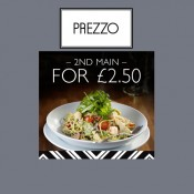 Prezzo - Enjoy a second main for £2.50 Offer
